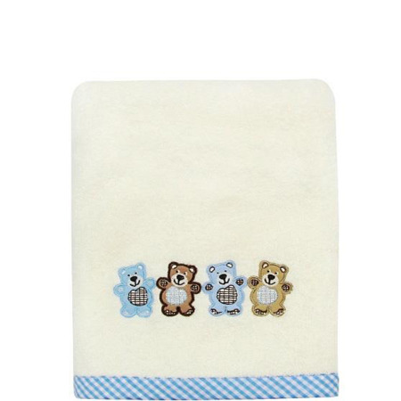 Baby 3 Bears 50x90 - cream + blue