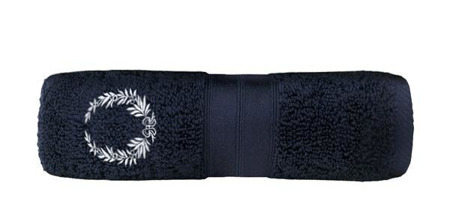 Ula with embroidery 70x140 - navy blue (04)